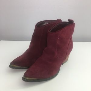 Chinese Laundry Ideal Pointed Toe Suede Booties